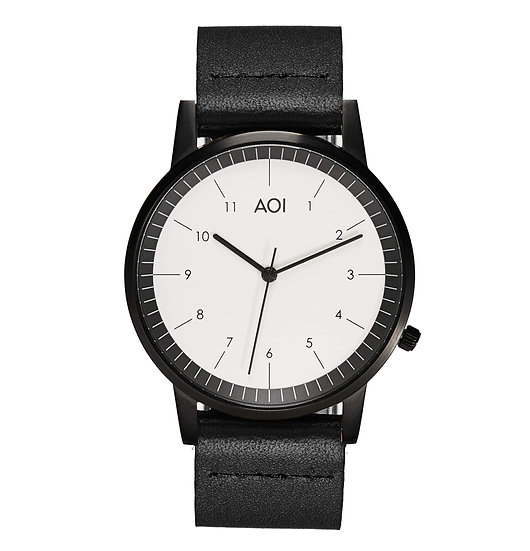 Womens KOBE | 2.3 Watch in Black With Premium Leather Band in Black