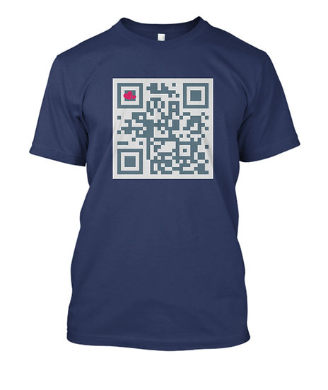 Mens Short Sleeve Tee QR Coded - I Love You!!