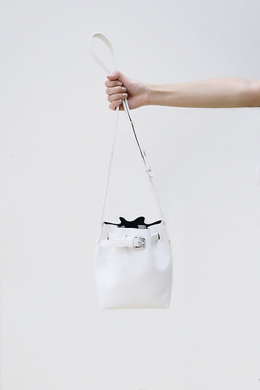 Women's Maison Nobl Bucket Bag -White