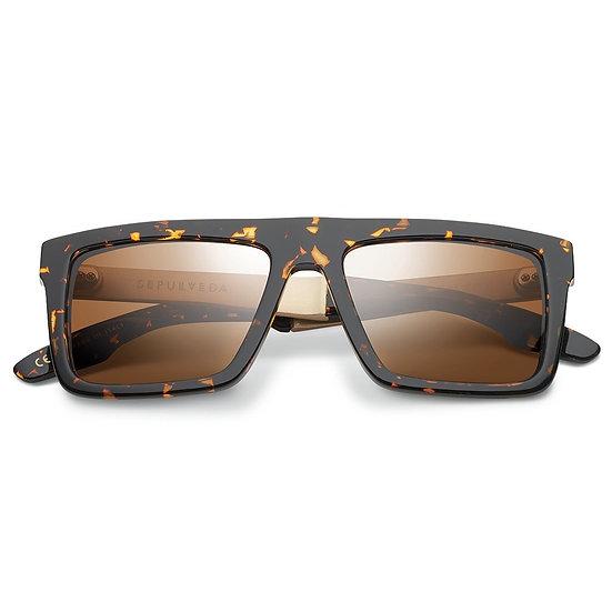 IVI Vision Sepulveda Polished Ambercomb Tortoise - Brushed Gold / Bronze AR Lens