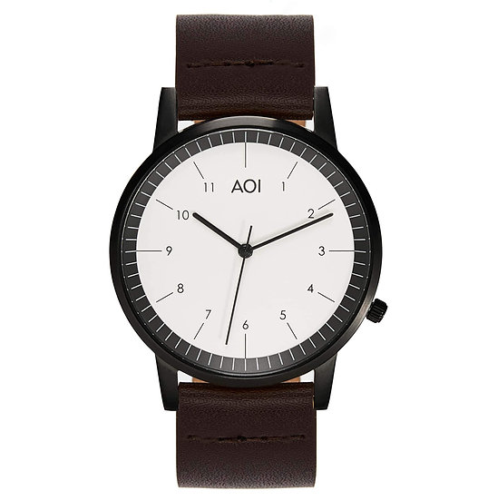Womens KOBE | 2.2 Watch in Black With Premium Leather Band in Brown
