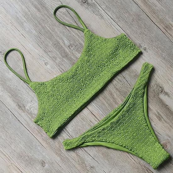 Women's Tamper Ruffle Bikini - Olive