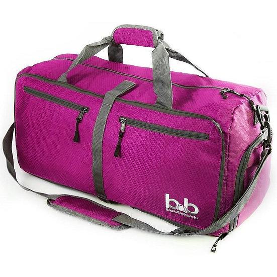 Women's B&B 60L Medium Gym Duffle Bag With Pockets - Foldable Travel Bag
