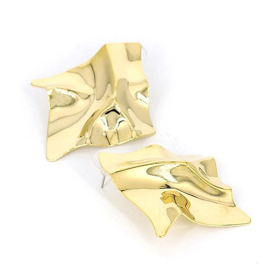 Women's Gold Wave Earrings
