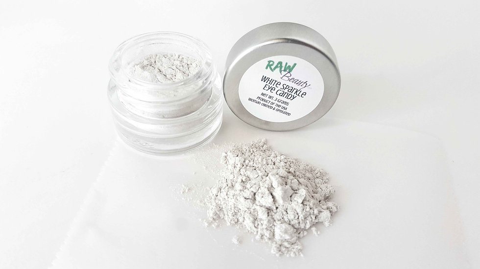 Women's White Sparkle Loose Eye Shadow | Raw Beauty Minerals