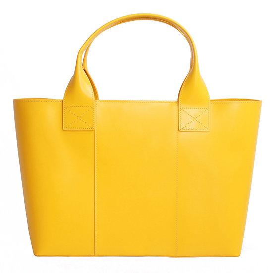 Women's Shopping Bag Yellow Gold