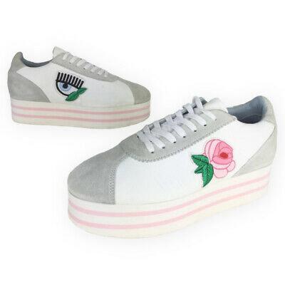 Women's Chiara Ferragni Platform Leather Rose Eye Sneaker