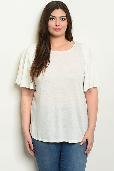 Womens White Plus Size Top