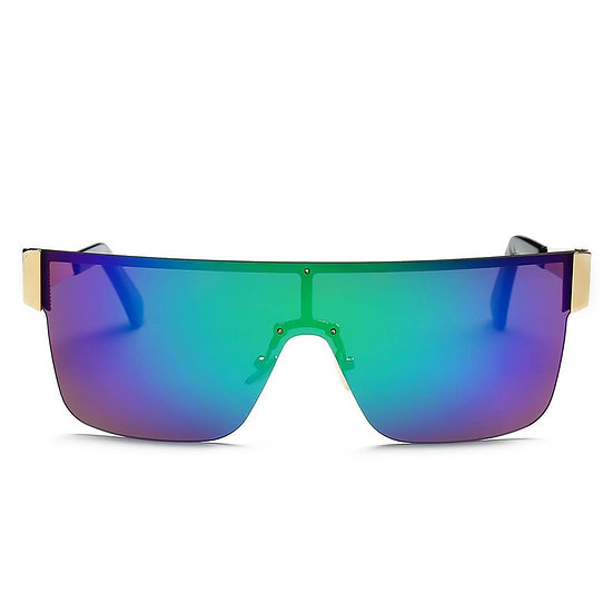 CHARENTON  | S2031 - Women Oversized Square Shield Wrap Around Sports Sunglasses