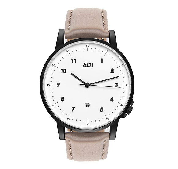 Womens TOKYO | 1.3 Watch in Black With Premium Leather Band in Fawn