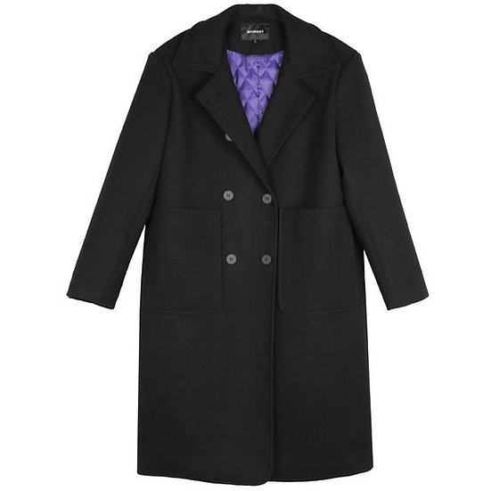 Women's Tokuko Button Long Sleeve Coat with Quilted Lining
