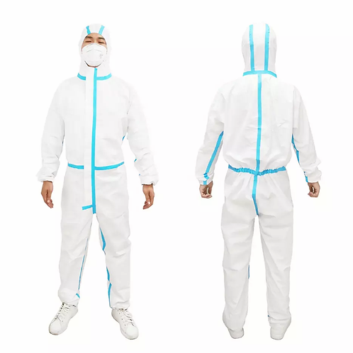 Hooded Protective Coverall Body Suit