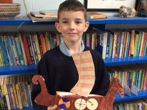 Miss Horwell: We have completed our Viking longships!