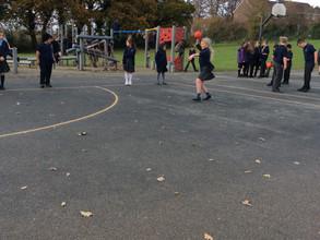 Sports Leaders set up Dodgeball!