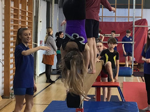 Gymnastics skills displayed!