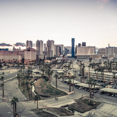 Las Vegas strip panoramic view
