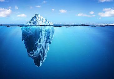 iceberg representing subconscious mind