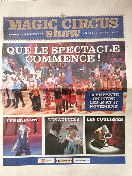 Magic Circus Show à Genève sous chapiteau, Novembre 2012