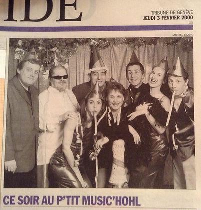 Sacha dans la Revue du P'tit Music'Hohl Février 2000
