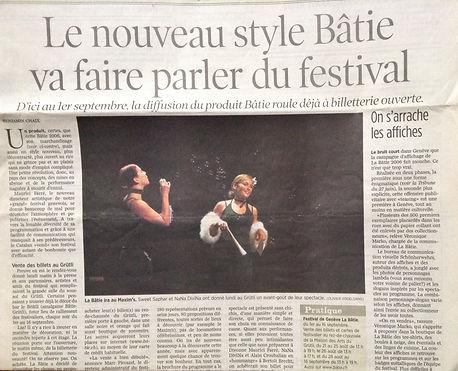 Sacha en Cabaret pour le Festival de la Bâtie Genève Septembre 2006
