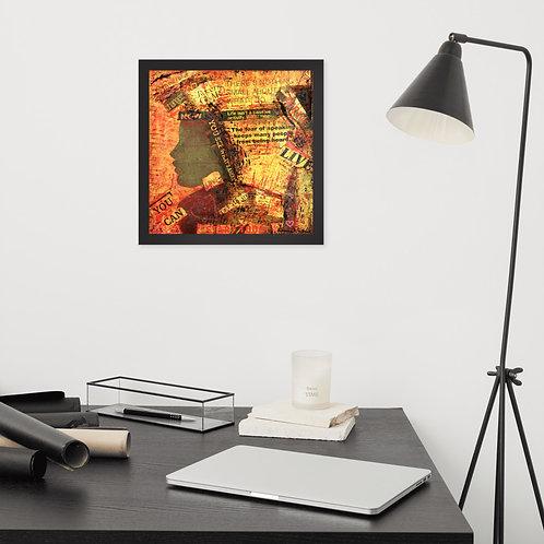 Enough - Framed paper poster
