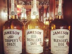 Selection of Jameson Whiskeys