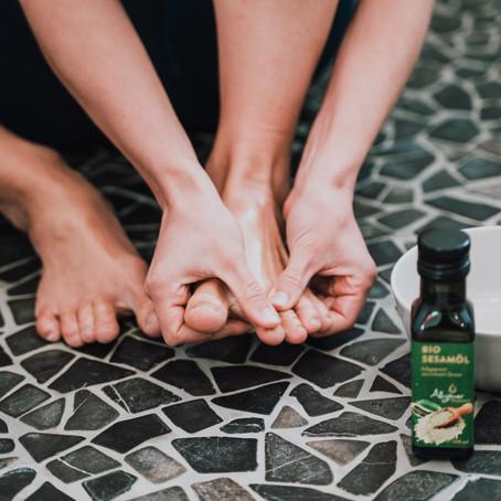 Fuß- Haar- und Hautpflege Routine mit Sesamöl ♡