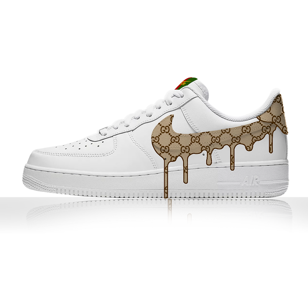 GUCCI Drip Air Force Ones