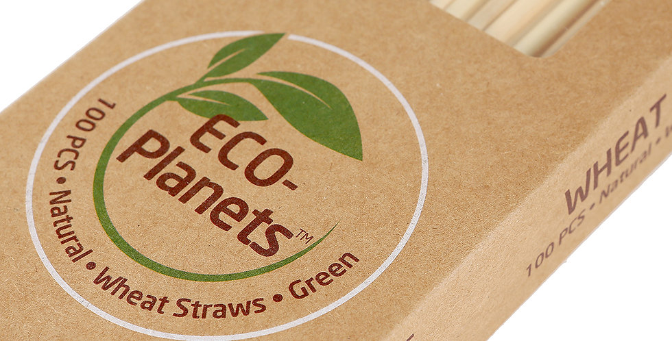 ECO-PLANETS WHEAT STRAWS - 100 PIECES