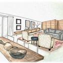 LS Residence Living Room Rendering Color