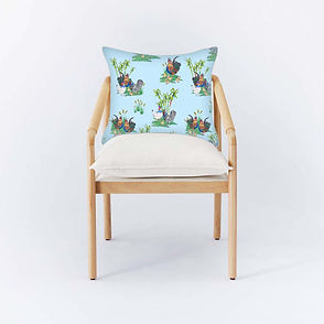 Bamboo Chair with Caribe Yardbird Ble.JP