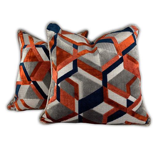 Geometric Lux Pillows
