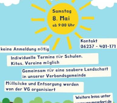 Dreck-Weg-Tag VG Maxdorf - ArtenErben ist dabei!