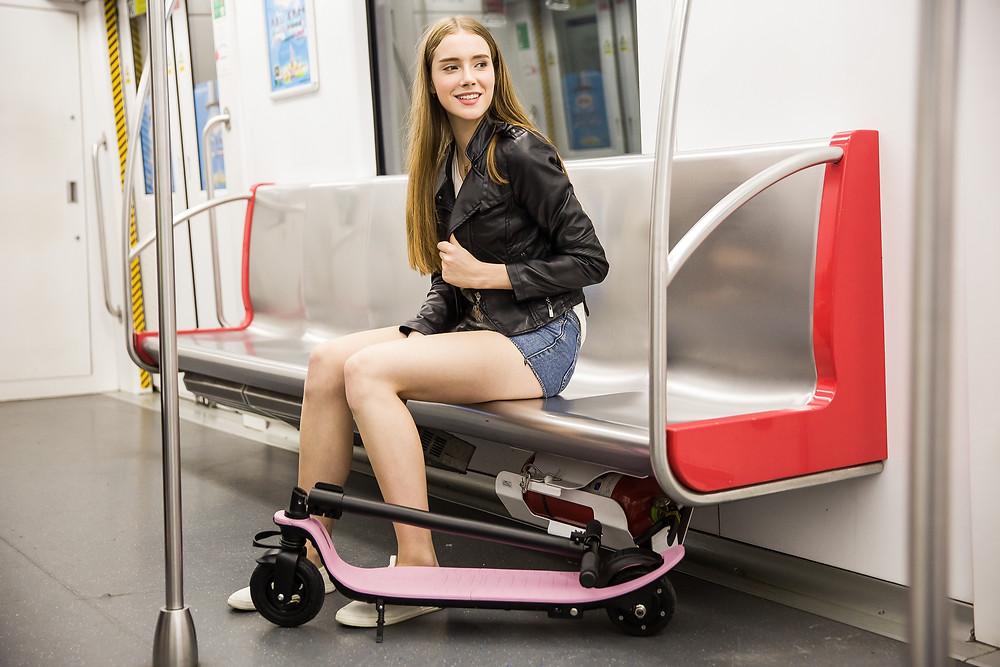 ultra light electric foldable scooter joyor