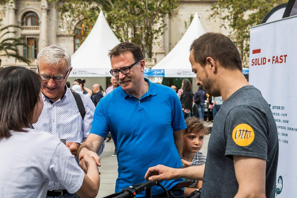 prueba del patinete eléctrico Joyor en Electric Movements in Valencia