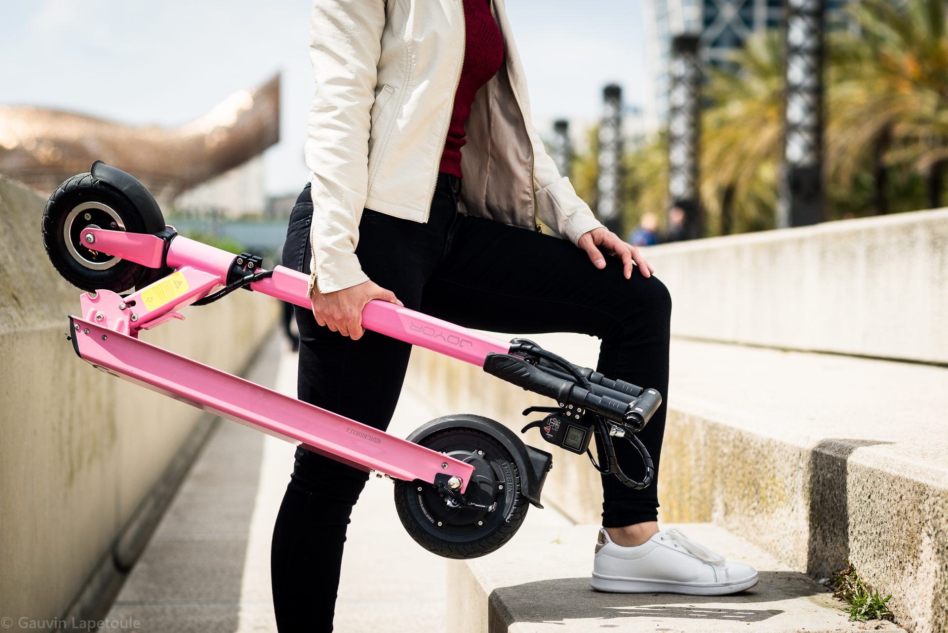 Electri scooter Joyor A1 Pink