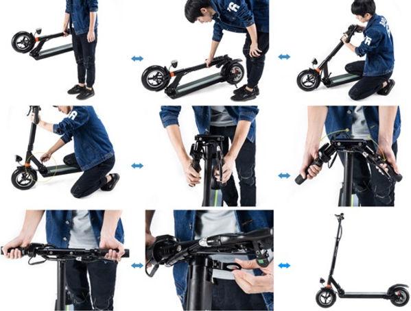 Scooter elétrica Joyor dobrar/desdobrar