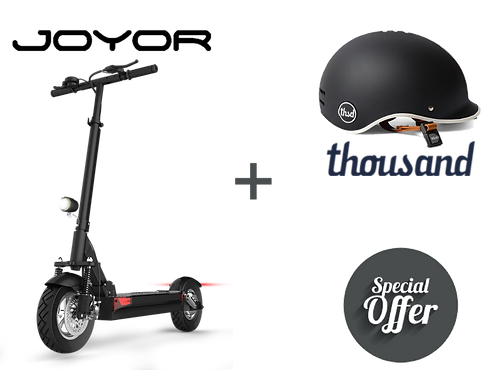 Electric scooter Joyor and helmet Thousand special offer