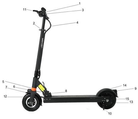 scooter elétrica joyor F