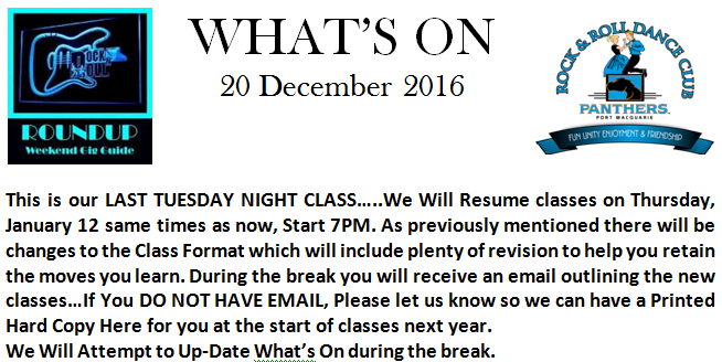 Last Tuesday night for 2016