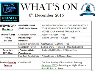 Whats On 6 Dec 2016