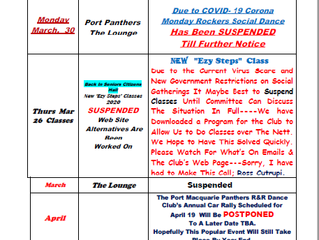 What's on 30 March 2020