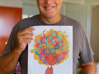 Marcello Serpa inaugura novo ciclo de ilustrações do Gueri-Gueri