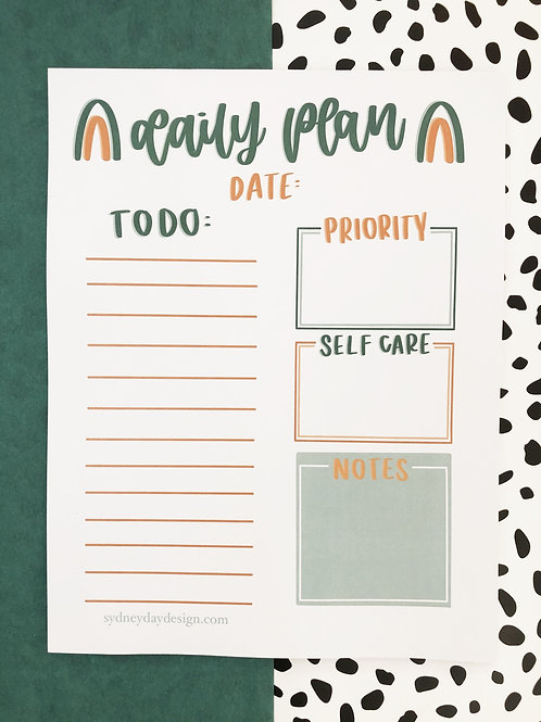 Rainbow Daily Planner Notepad