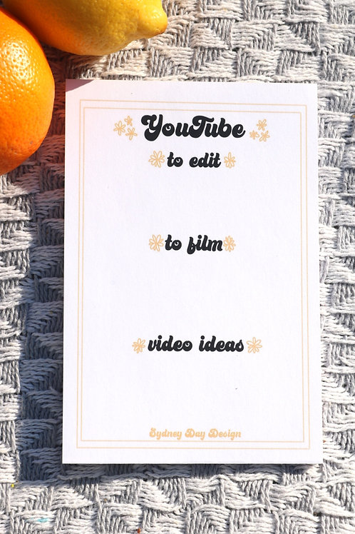 Small Youtuber Notepad