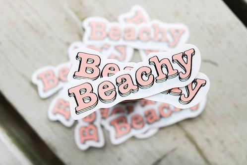 Beachy Sticker
