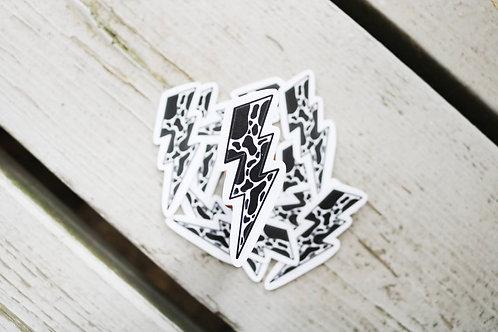 Cow Bolt Sticker