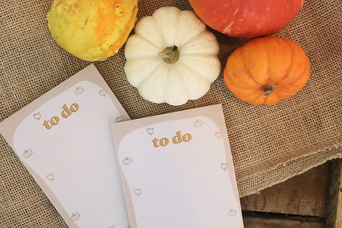Fall To Do Notepad