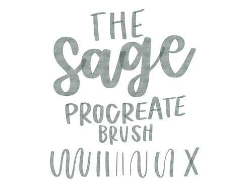 Sage Procreate Brush