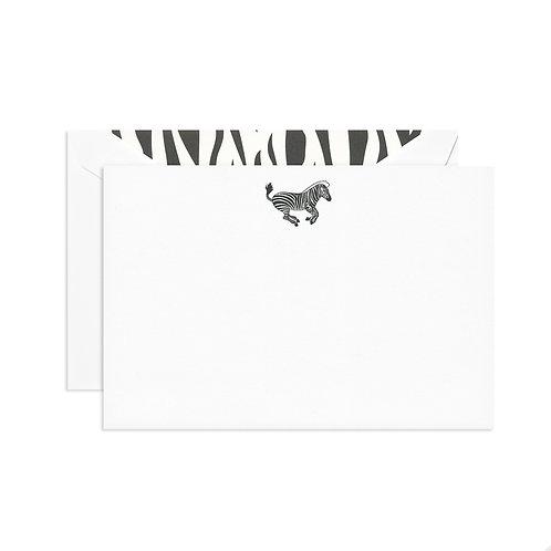 Engraved Zebra Correspondence Card